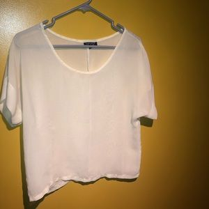 Topshop Sheer White Top